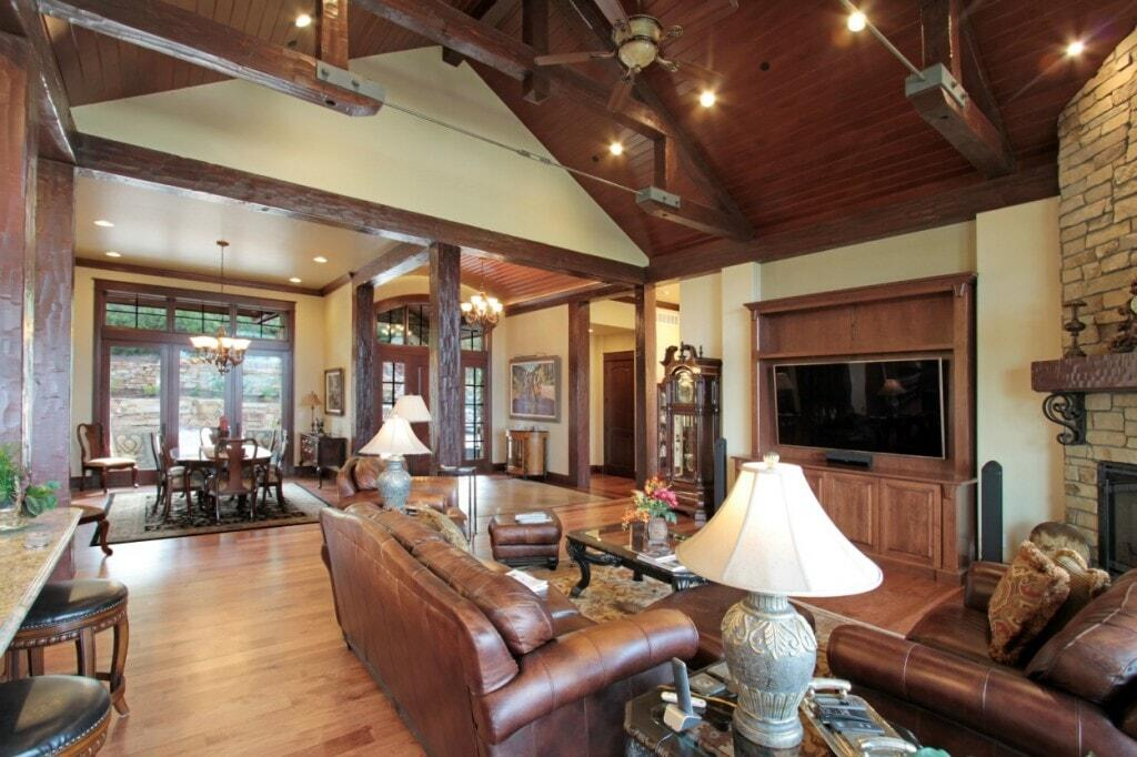 Beautiful Vaulted Ceiling and Lighting